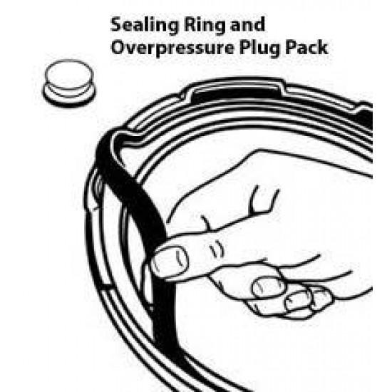 Sealing Ring/Overpressure Plug Pack for 3- & 4-Quart Pressure Cookers