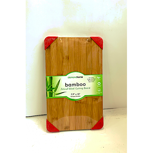 8x13 Bamboo Cutting Board With Silicon Edges