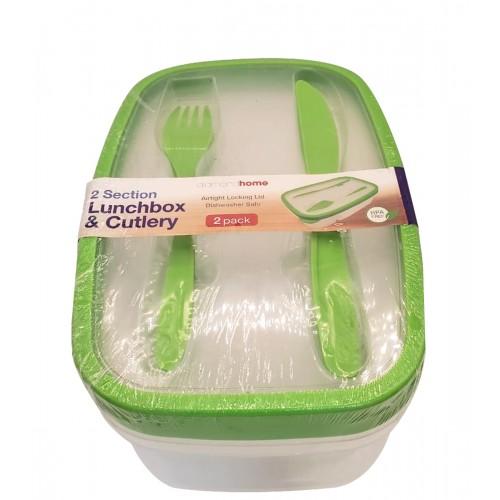 2PK Lunch Box & Utensils