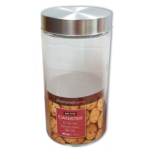 1.75 round glass canister