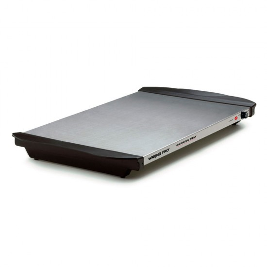 Waring WT90B Warming Tray w/ ABS Handles, Brushed Stainless