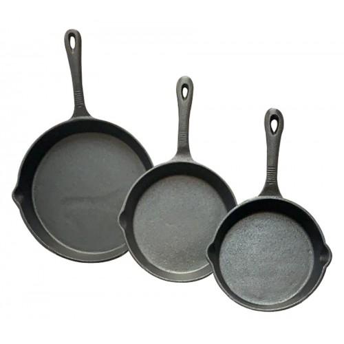 3 piece cast iron skillet set