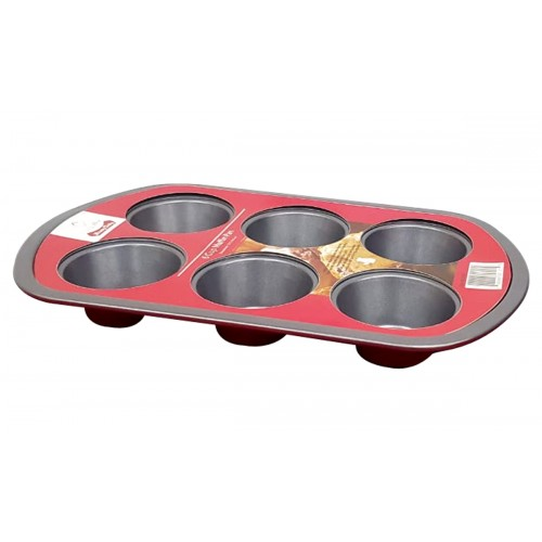 RED 6 CUP MUFFIN PAN