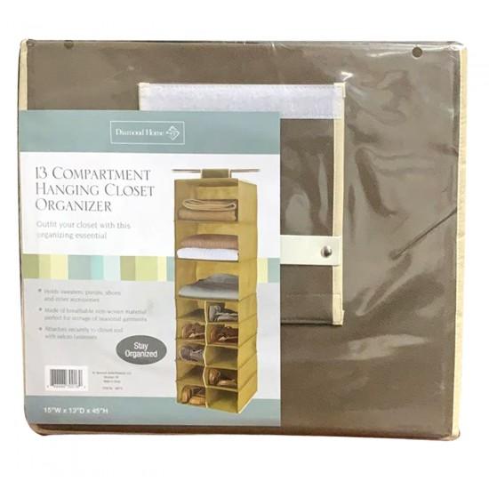 13 Slot Hanging Compartment Organiser