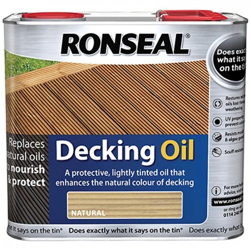 DECKING OIL NATURAL 2.5L