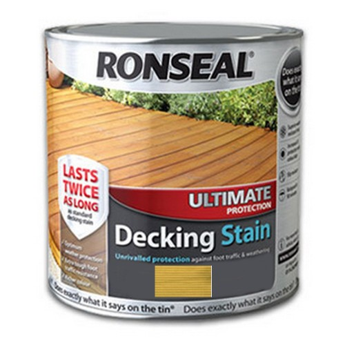 RONSEAL ULTIMATE DECKING STAIN 2.5LTR NATURAL PINE