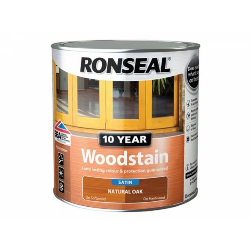 10 Year Woodstain Natural Oak 2.5 Litre