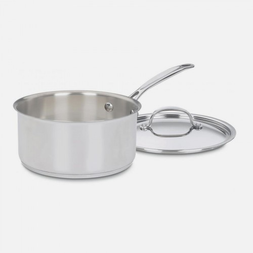 CHEF'S CLASSIC™ STAINLESS 3 QUART SAUCEPAN WITH COVER