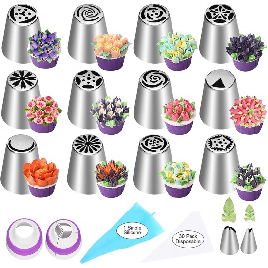 47 Piece Russian Piping Tips