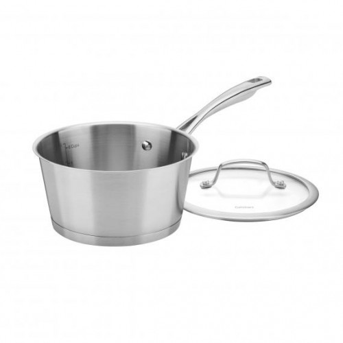 2 QUART CONICAL STAINLESS INDUCTION SAUCEPAN WITH COVER