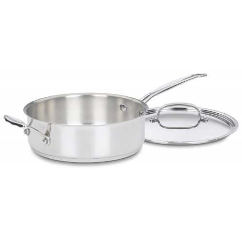 3.5 QUART SAUTÉ PAN WITH HELPER HANDLE & COVER