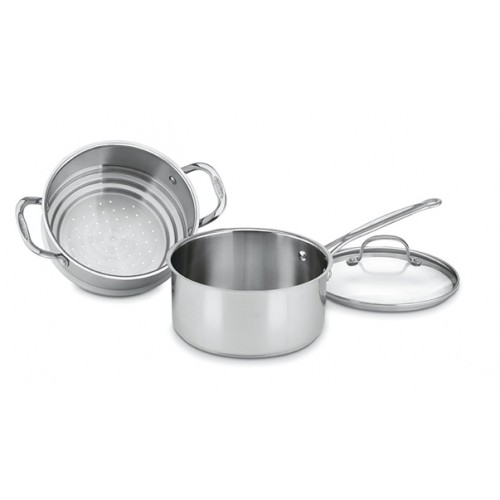 CHEF'S CLASSIC™ STAINLESS 3 QUART 3 PIECE STEAMER SET