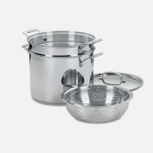 CHEF'S CLASSIC™ STAINLESS 12 QUART PASTA/STEAMER 4 PIECE SET