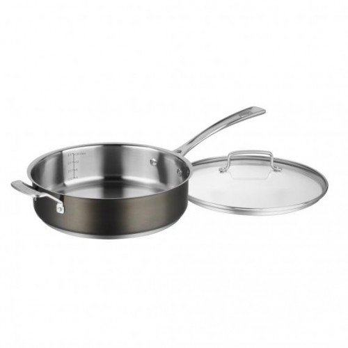 5.5 QUART SAUTÉ PAN WITH HELPER HANDLE AND COVER