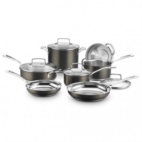 BLACK STAINLESS COLLECTION 11 PIECE SET