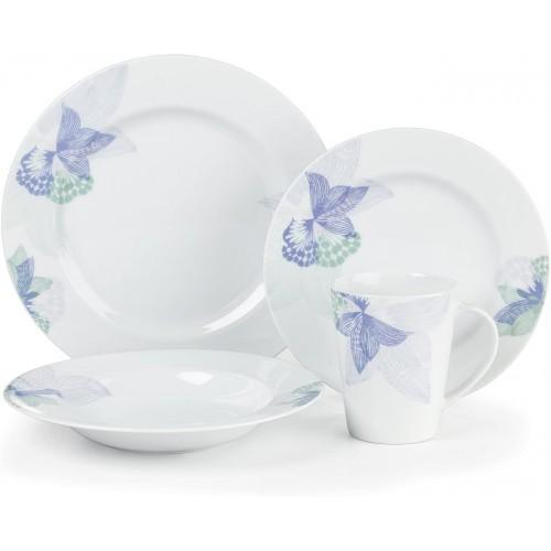 Pannes Collection 16-Piece Porcelain Dinnerware Set