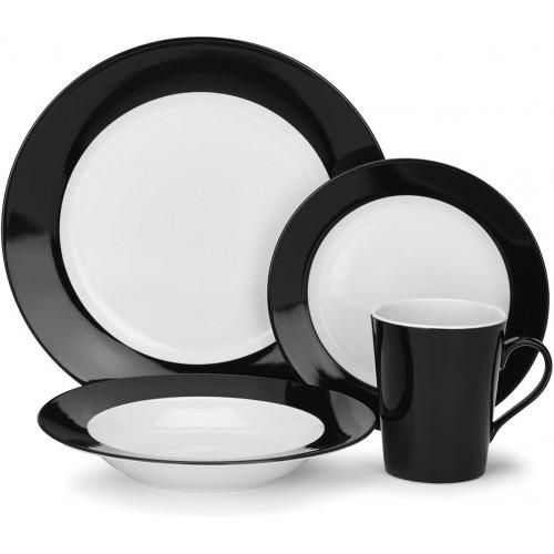 Reynes Collection 16-Piece Porcelain Dinnerware Set