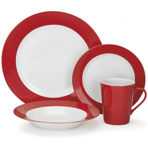Rialle Collection 16-Piece Porcelain Dinnerware Set
