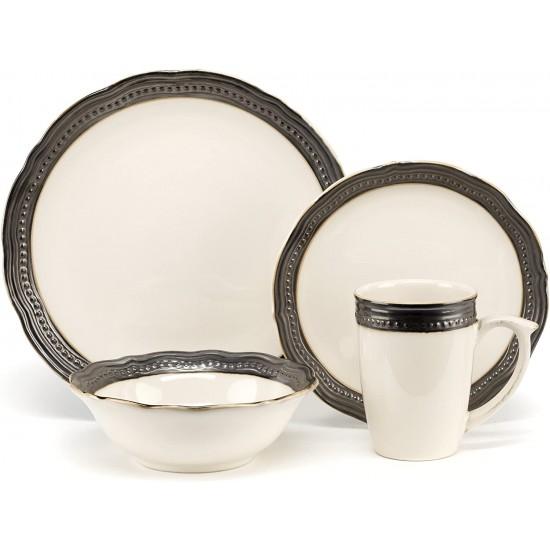 Stoneware Jenna Natural Collection 16-Piece Dinnerware Sets