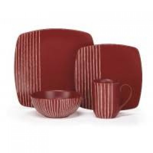 Stoneware Anet Collection 16-Piece Dinnerware Set