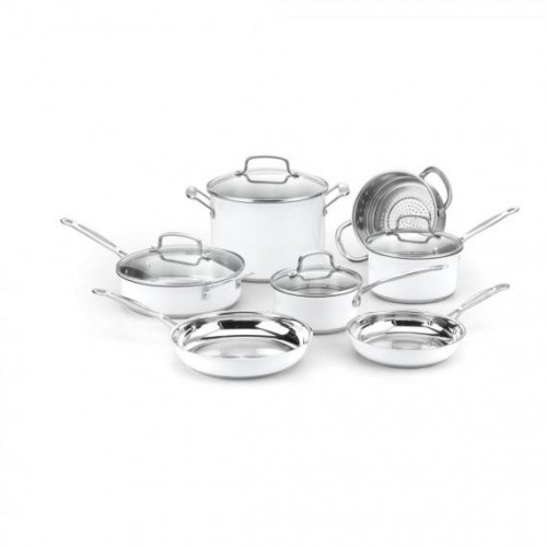 CHEF'S CLASSIC™ STAINLESS COLOR SERIES 11 PIECE SET