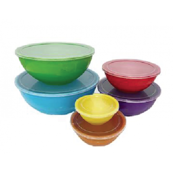 12 Piece Bowls with Lids