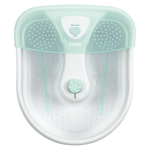 FOOT SPA WITH HEAT, BUBBLES & 3 ATTACHMENTS