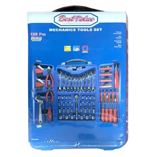 123 piece mechanic tool set