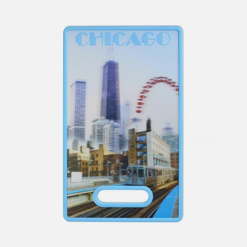 3D CHICAGO CUTTING BOARD