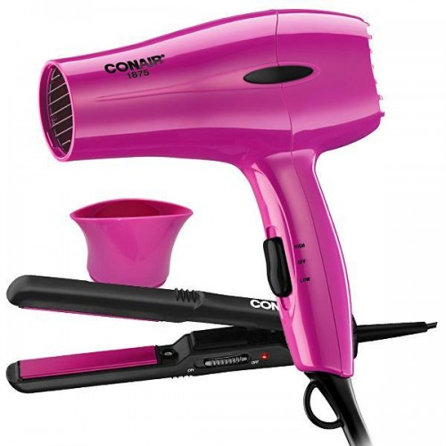 2pk Beauty Kit Dryer & Straightener