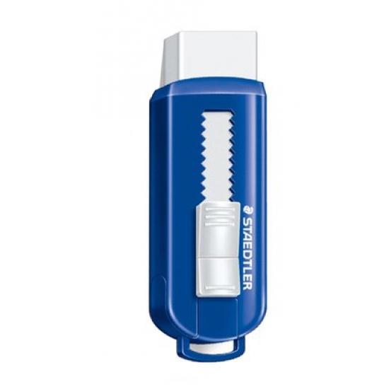 PVC-Free eraser with  sliding plastic sleeve