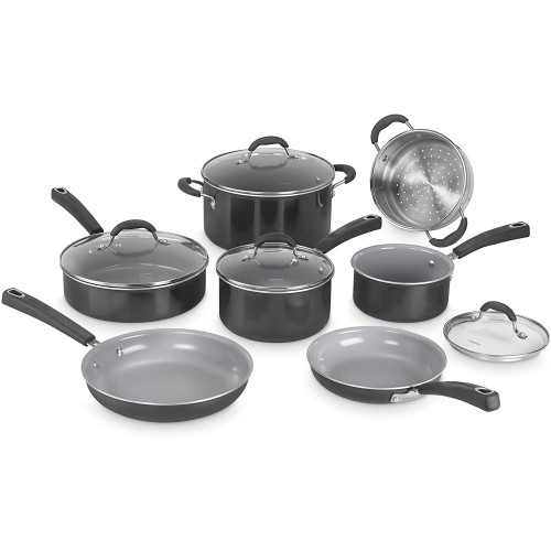 Advantage Ceramica XT Cookware Set,  Medium, Black