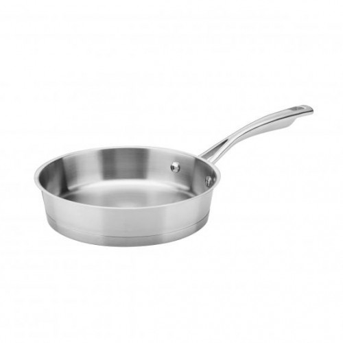 "8"" OPEN SKILLET CONICAL STAINLESS INDUCTION"