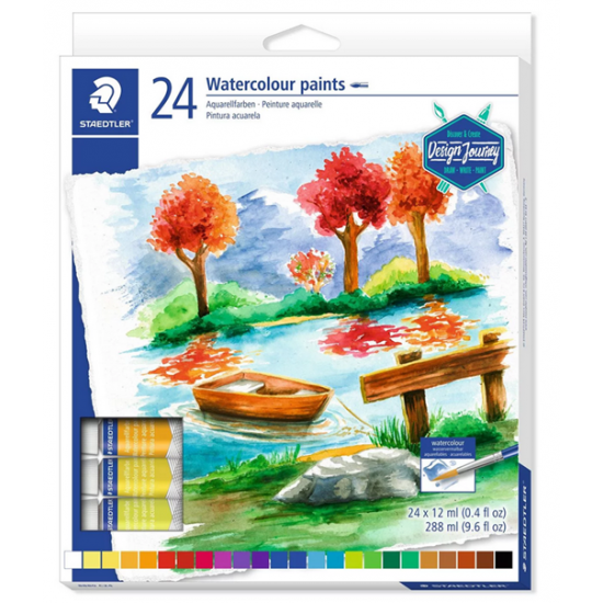 24 Watercolour paints