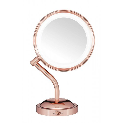 Double-Sided Battery Operated Lighted Makeup Mirror
