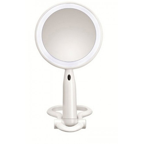 Plastic LED Double-Sided Mirror – White