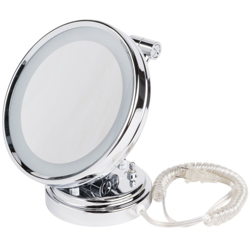 "8"" Diameter Lighted Wall-Mount Mirror"