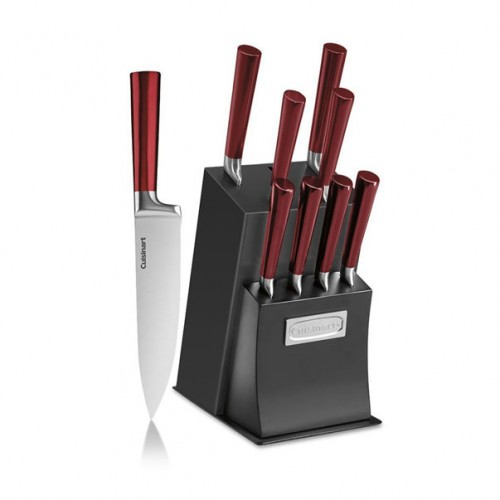 Vetrano Collection 11-Piece Stainless Steel Cutlery Knife Block Set