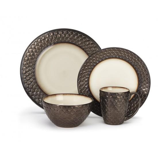 Stoneware Anais Collection 16-Piece Dinnerware Sets