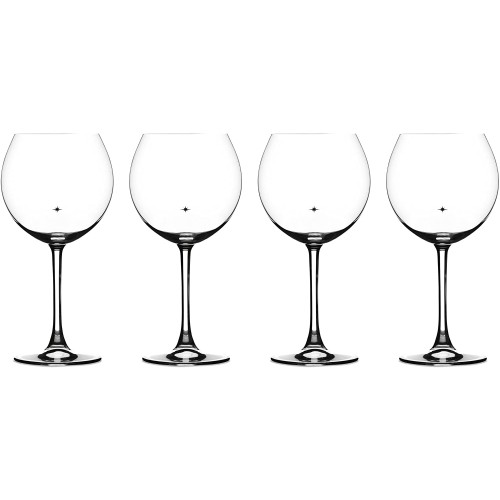 The Star's The Limit Collection Burgundy Glasses, Set of 4