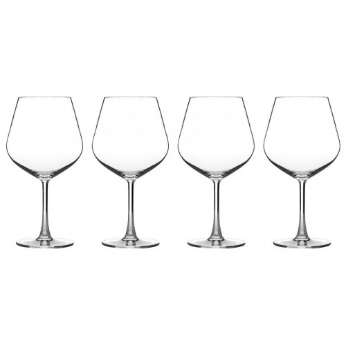 Advantage Glassware Essentials Collection Burgundy Glasses, Set of 4
