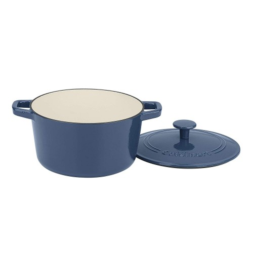 3 Qt Casserole, Covered, Enameled Provencial Blue.  FREE delivery with every online credit card purchase
