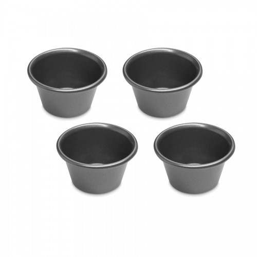 4 Piece Pudding Set, Mini, Steel Gray