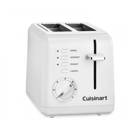 2 Slice Compact Plastic Toaster