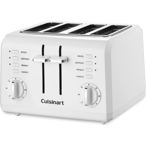 4 Slice Compact Plastic Toaster