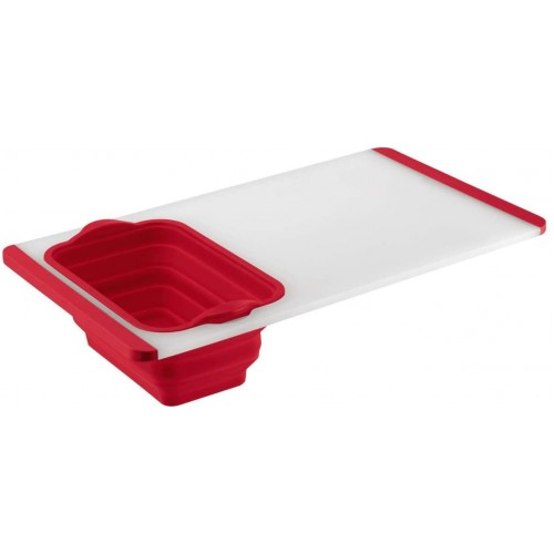 Cutting Board with Colander - Red