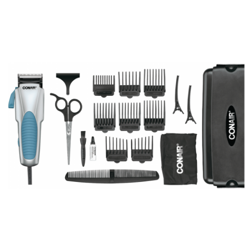 Custom Cut 18-piece Haircut Kit; Home Hair Cutting Kit with No Slip Grip