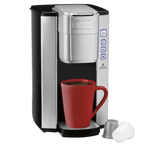 Single Serve Brewer coffemaker, 40 oz, Silver