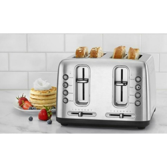 Stainless Steel 4-Slice Toaster with Shade Control